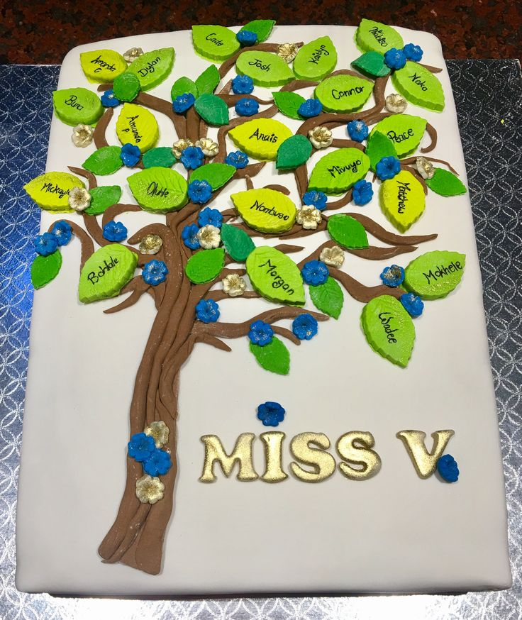 Classroom Tree Cake for Teacher