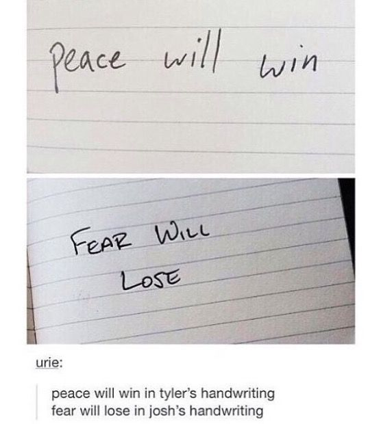 ...is it weird that I'm like obsessed with Tyler's handwriting...? o.o