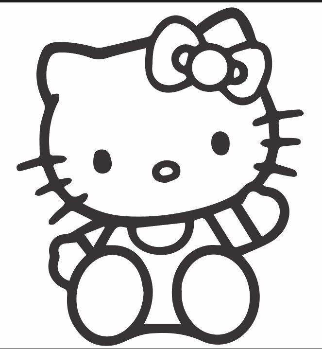 Hello Kitty Vinyl Laptop Car Yeti Tumbler Decal Sticker Https Etsy Me 2tmbdk3 Geekery Computer Hello Kitty Coloring Kitty Coloring Hello Kitty Drawing