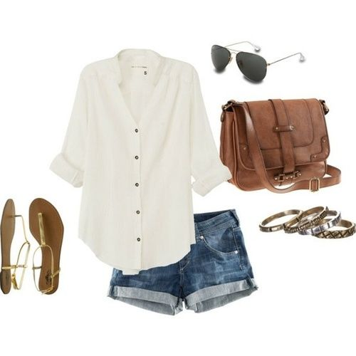 Summer outfits / A fantastic outfit to travel with, easy and casual. Love it!