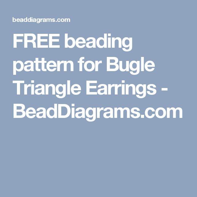 FREE beading pattern for Bugle Triangle Earrings - BeadDiagrams.com