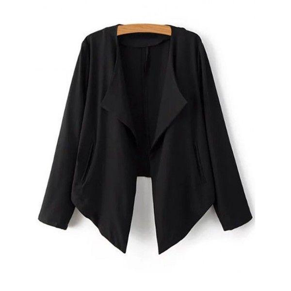 Recadrée Retour Blazer (490 MXN) ❤ liked on Polyvore featuring outerwear, jackets, blazers and blazer jacket