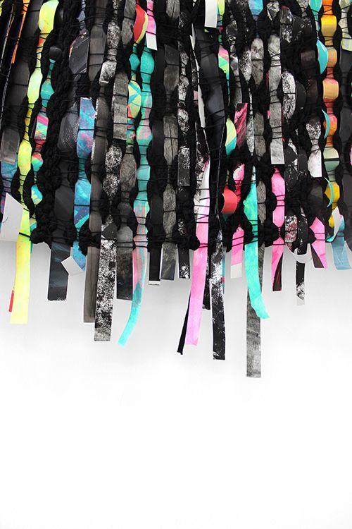 Sanna Vainionpää: yksityiskohta installaatiosta Black Rainbow, 2015. Kuva: Sanna Vainionpää.