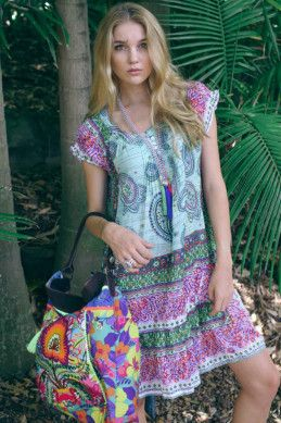 Ruby Yaya Rambagh Paisley Dress - Womens Short Dresses - Birdsnest Online Shop