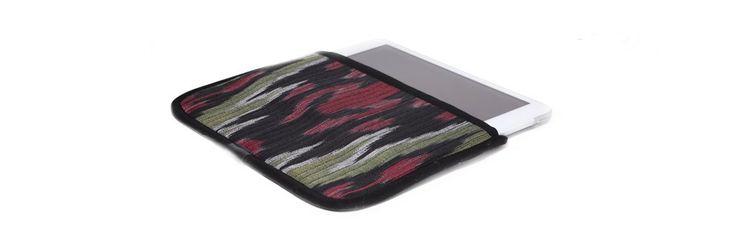 Чехол для Apple iPad Mini, красный с зеленым в черной окантовке