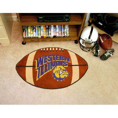 FANMATS NCAA Western Illinois University Football Mat