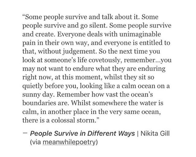 I'm making it through my personal trauma and injury storm. Taking it day by day.