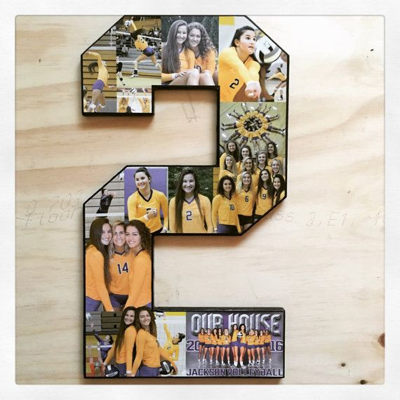 20 inch single digit number collage. Ships Free for Senior night! Sports collage.   Great senior nig