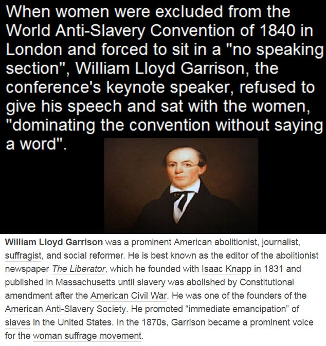 """William Lloyd Garrison was a prominent American abolitionist, journalist, suffragist, and social reformer. He is best known as the editor of the abolitionist newspaper The Liberator, which he founded with Isaac Knapp in 1831 and published in Massachusetts until slavery was abolished by Constitutional amendment after the American Civil War. He was one of the founders of the American Anti-Slavery Society. He promoted """"immediate emancipation"""" of slaves in the United States. In the 1870s…"""