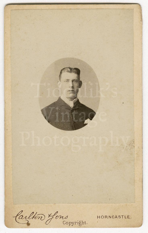 The dress agency horncastle - Cdv Carte De Visite Photo Victorian Handsome Young Man Portrait By Carlton Sons Of Horncastle