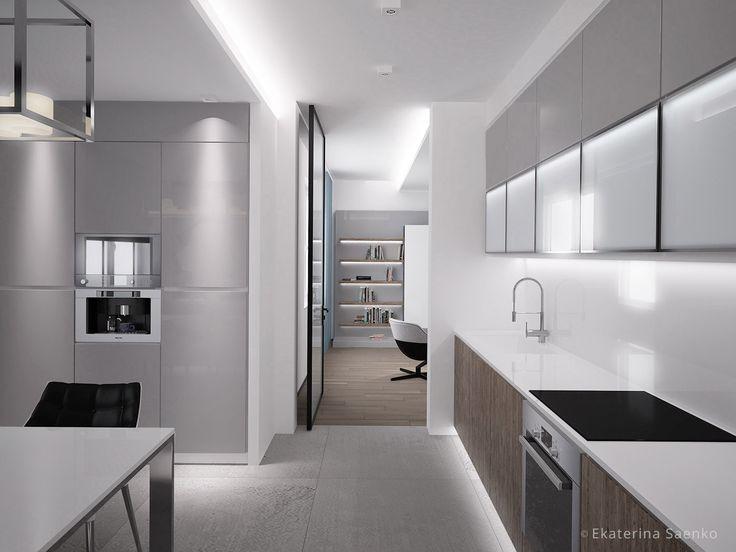 дизайн кухни в стиле минимализм, французский минимализм