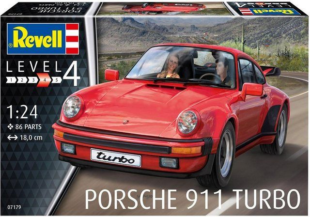 Model kit »Model Set Porsche 911 Turbo«, scale 1:24, (86 pcs), car with accessories scale 1:24