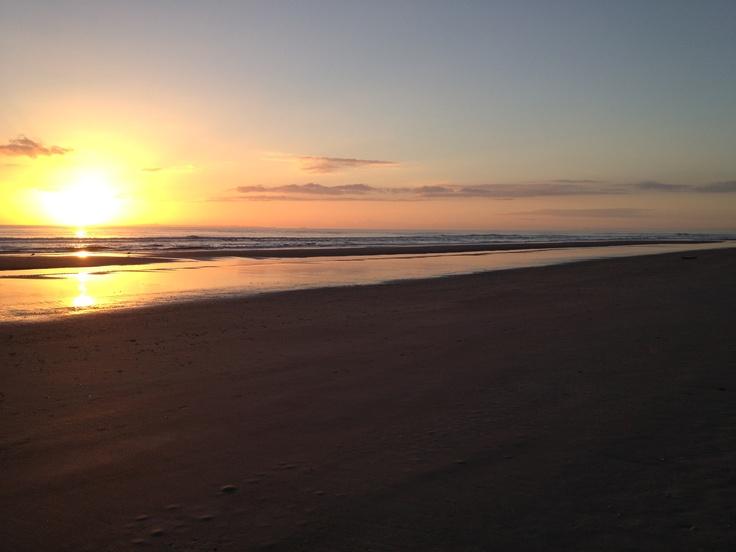 Papamoa Beach at sunrise