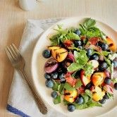 Grilled Peach and Blueberry Salad - U.S. Highbush Blueberry Council