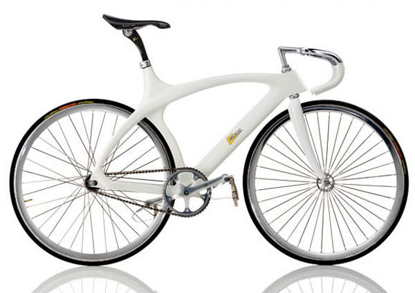"""CORIMA Cougar  1991, FRA Frame: Carbon varnished Bicycle gearing: 1 Speed fixed Tyres: 27"""" Tubular / 27"""" Tubular Weight: 19,62 lbs"""
