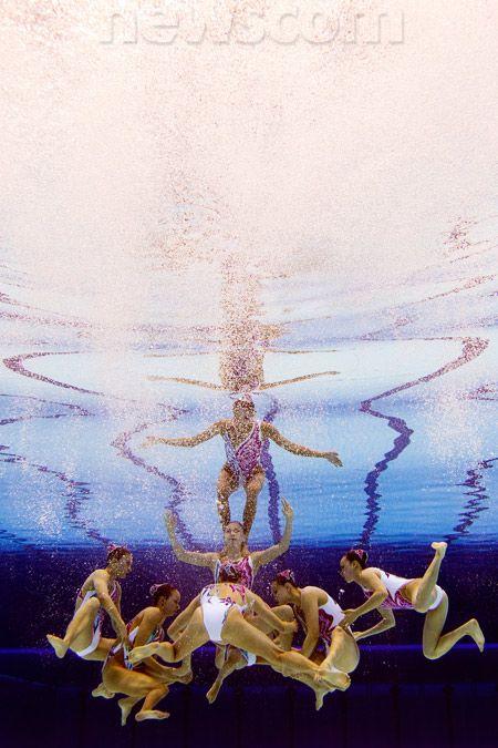 China's synchronized swim team.