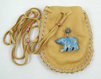 Apache Indian Medicine Bag Sodalite Bear fetish Cynthia Whitehawk