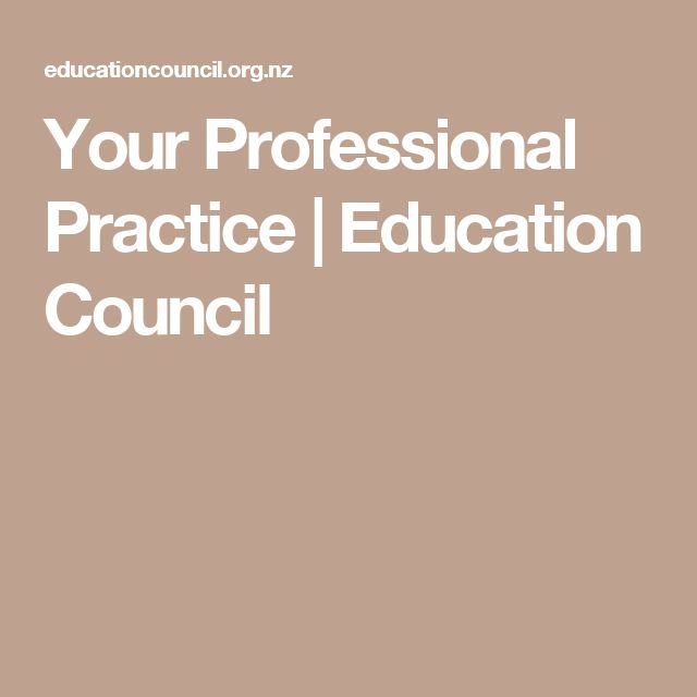 Your Professional Practice | Education Council