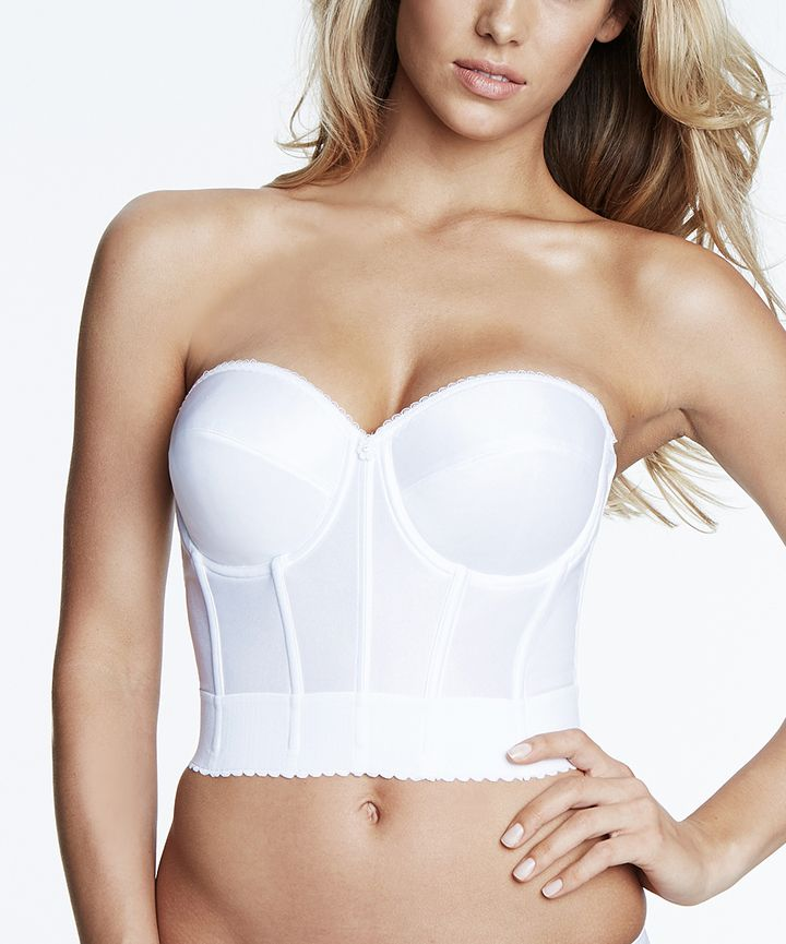 White Noemi Strapless Corset - Plus Too