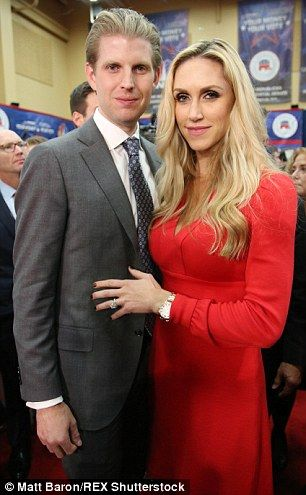Proud sons: Eric, 31, attended with wife Lara...