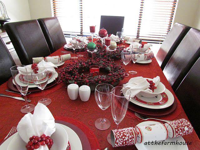 atthefarmhouse: Christmas Lunch table
