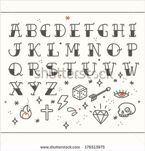 Rockabilly alphabet