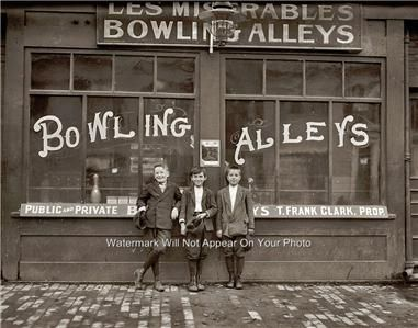 photos of old bowling alleys | Details about Vintage Les Miserables Old Bowling Alleys Lanes Duck Ten ...
