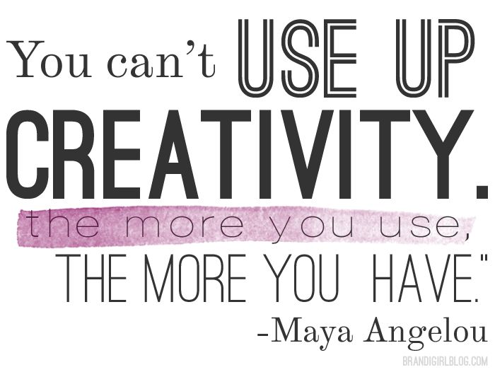 Pinterest Quotes About Creativity: You Cant Use Up Creativity!