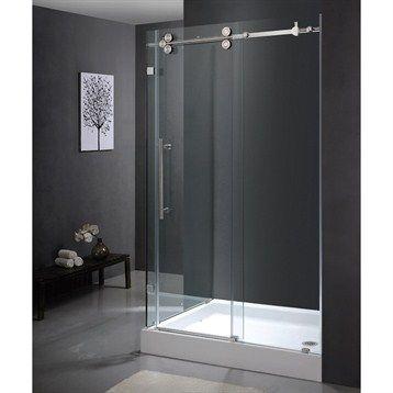 "Vigo Industries Frameless Rectangular Shower Enclosure - 36"" x 48"" | Free Shipping"