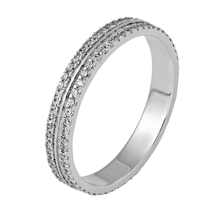 eternity ring with 130 diamonds going all the way