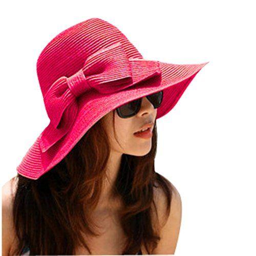 Nsstar Lady Bowknot Beach Sun Visor Foldable Wide Brim Straw Hat Cap (Bowknot:Hot Pink). Nsstar Lady Bowknot Beach Sun Visor Foldable Wide. Nsstar Lady Bowknot Beach Sun Visor Foldable Wide Brim Straw Hat Cap (Bowknot: Hot Pink).