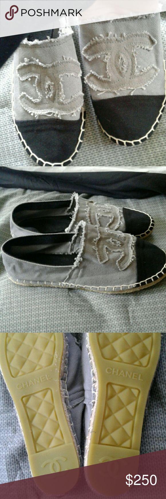 Selling this Chanel Espadrilles on Poshmark! My username is: brittnayy420. #shopmycloset #poshmark #fashion #shopping #style #forsale #CHANEL #Shoes