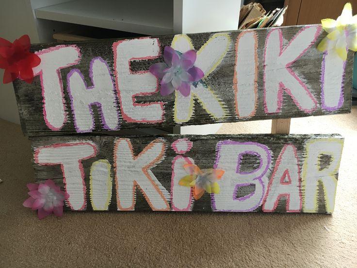 Rustic Tiki bar sign