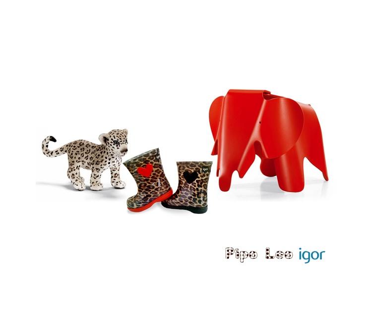 #Igor: #PIPOLEO #fashionprint #leopardo #botas #agua #niños #waterboots
