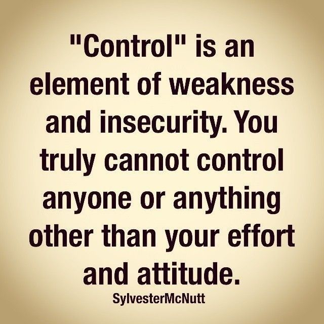 Controlling insecurity