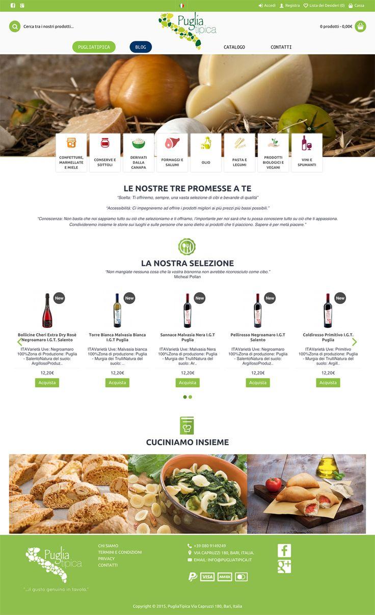 Sito web ecommerce realizzato per PugliaTipica - Roma - HomePage - Realizzato con OpenCart 2.0 - Anno 2015