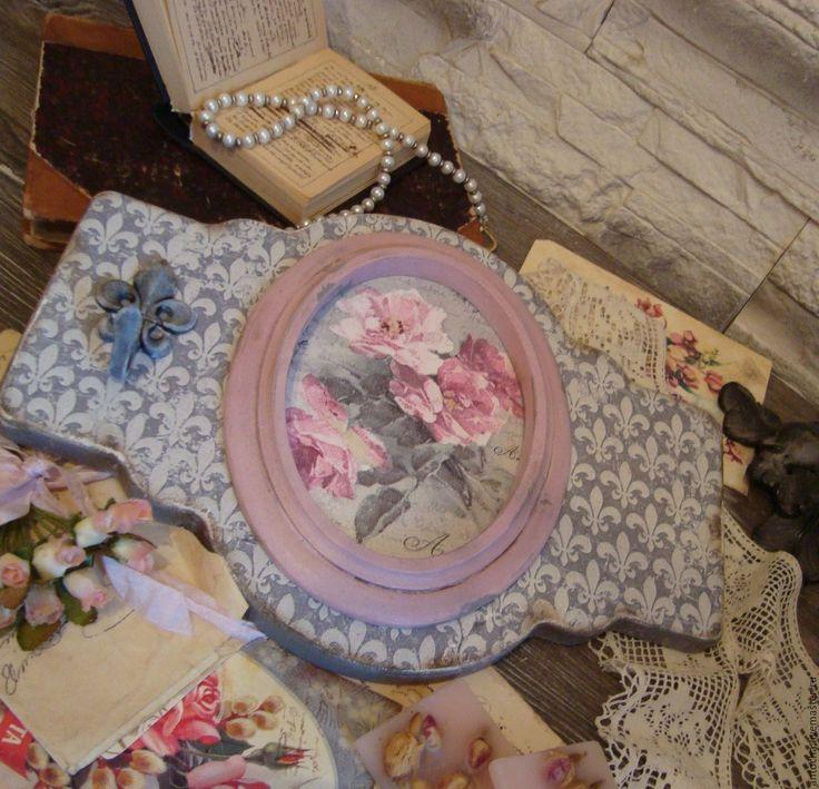 """Купить Панно-вешалка """"Серый пепел из розовых снов"""" - панно, вешалка, ретро, винтаж, ключи"""