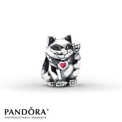 Pandora Charm Lucky Cat - waving cats are said to be very lucky in some Asian countries.