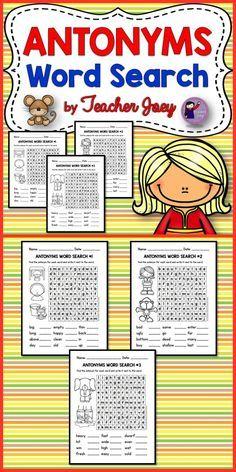 Number Names Worksheets : opposite words list for kids Opposite ...