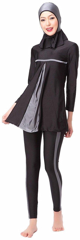 Amazon.com: YEESAM Muslim Modest Swimwear for Women Girls Hindu Jewish Hijab…
