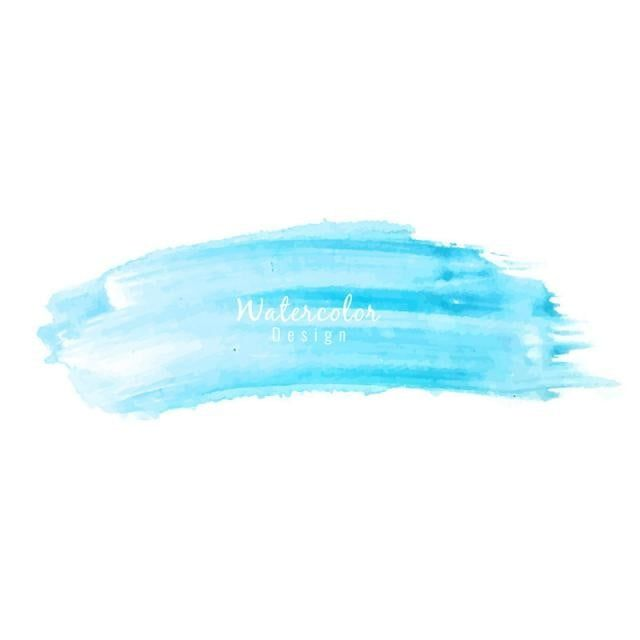 Abstract Watercolor Blue Background Brush Effect Abstract