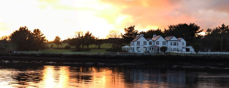 What a view - Sunset over Dingle Harbour and Milltown House Guesthouse.
