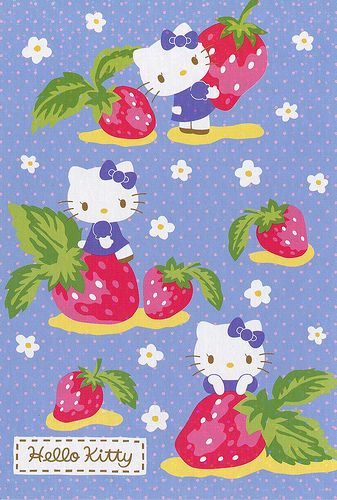 Hello Kitty Blue Strawberries