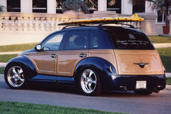 2001 CHRYSLER PT CRUISER CUSTOM WOODY BEACH CRUISER