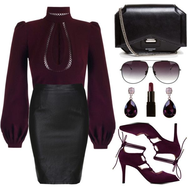 High Neck Blouse by the-messiah on Polyvore featuring polyvore, fashion, style, Givenchy, Dita, Illamasqua and clothing