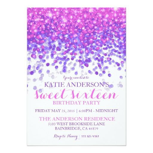 324 best 16th Birthday Party Invitations images on Pinterest