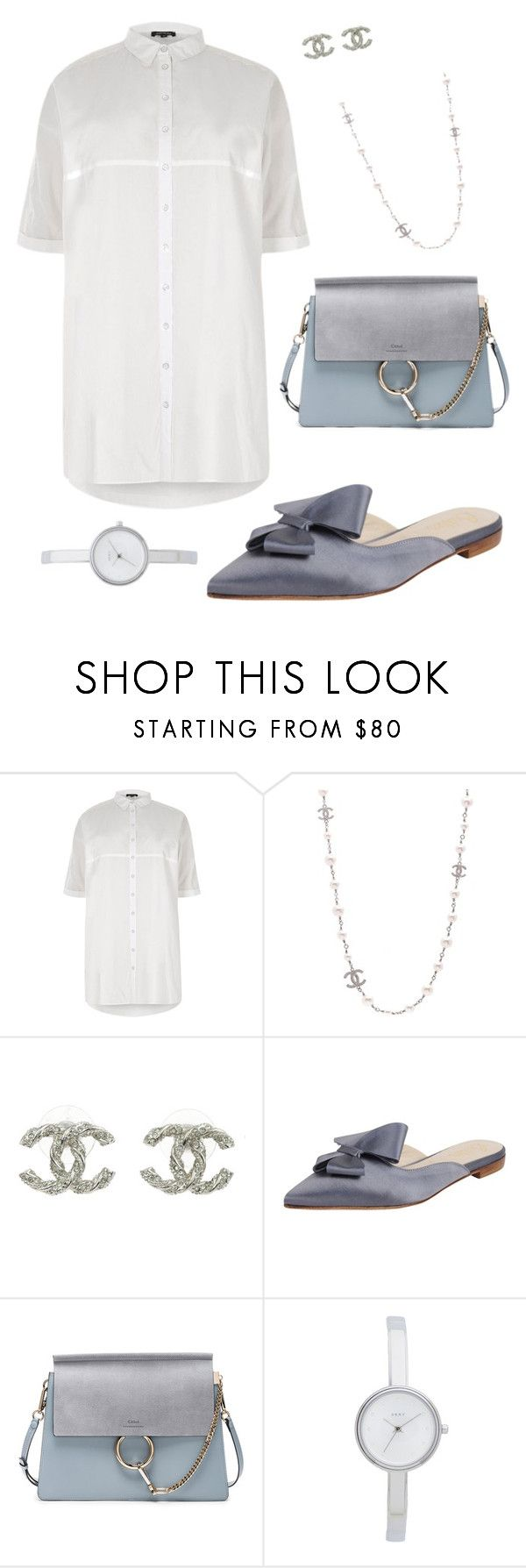 """159"" by orlianyot ❤ liked on Polyvore featuring River Island, Chanel, Butter Shoes, Chloé and DKNY"
