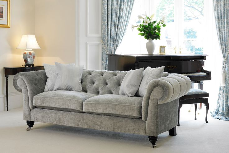The Chesterfield Sofa can be upholstered in any fabric you desire. Delcor's solid beech sofa frames are made in Britain & guaranteed for 50 years