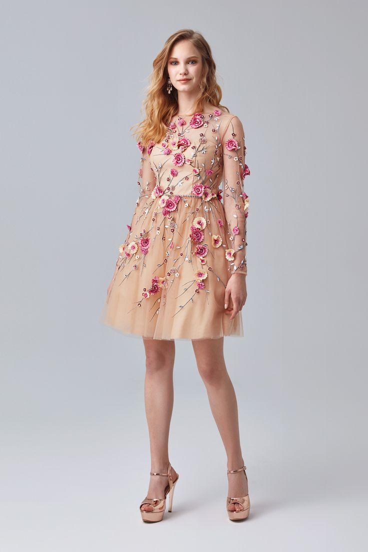 Cicek Desenli Kisa Abiye Elbise Mezuniyetelbisesi Mezuniyetkiyafetleri Mezuniyetabiye 2018mezuniyetelbiseleri Mezuniyetkombin Uzun Kollu The Dress Elbise