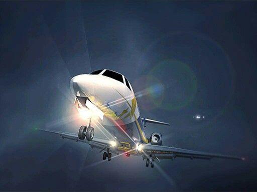 Embraer 145 landing